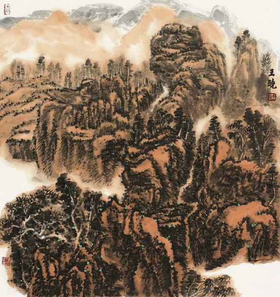 王晓山水画作品亮相翰墨青州・2015中国书画年会